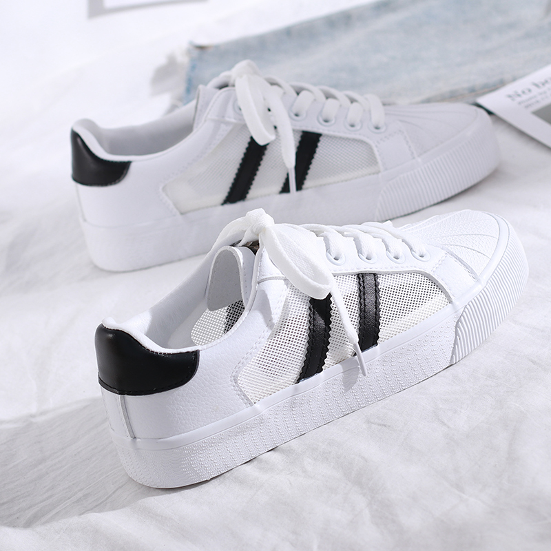 Shell shoes female Korean student sports shoes summer breathable soft girl shoes versatile small white low top board shoes