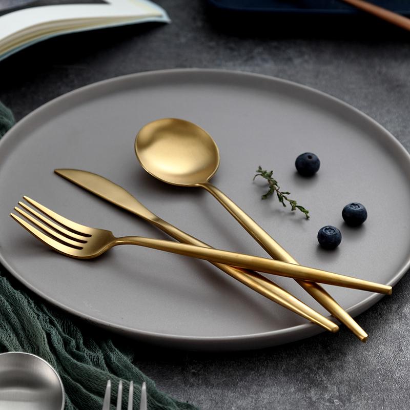 onlycook高档304不锈钢牛排刀叉勺