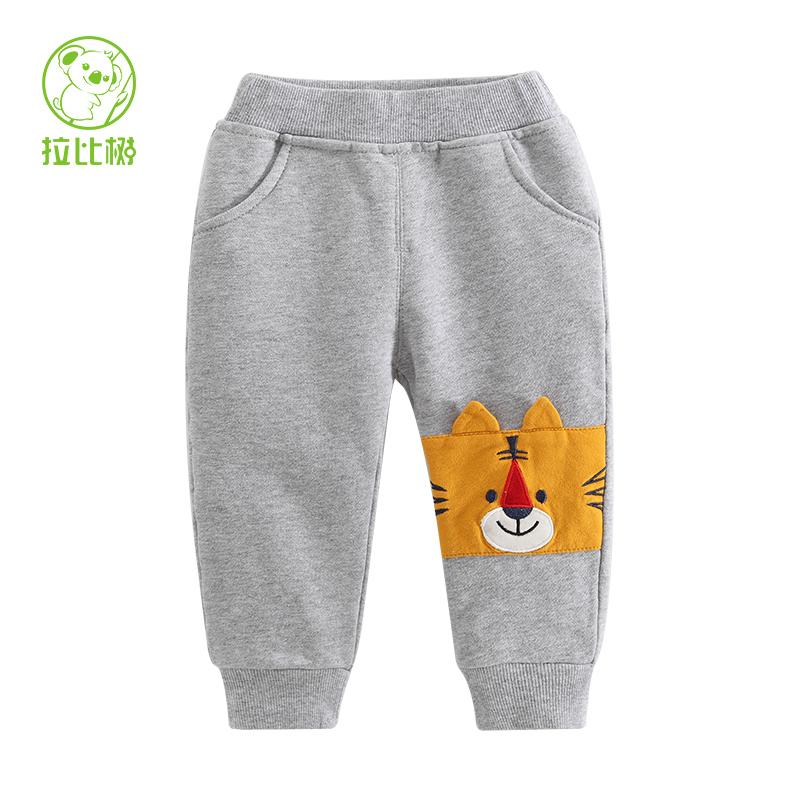拉比樹 男童針織褲2016 小童長褲寶寶褲子 兒童 褲