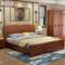 实木床1.8米主卧双人婚床气压高箱抽屉储物床1.5M新中式卧室家具