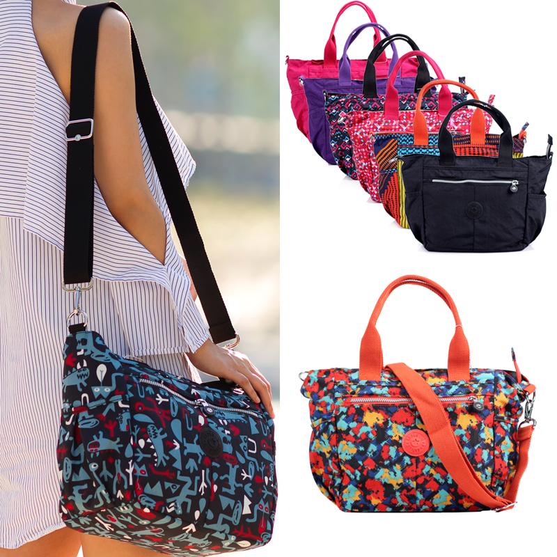 Waterproof canvas bag Single Shoulder Messenger dumpling bag nylon leisure Womens bag portable large capacity monkey printed fabric
