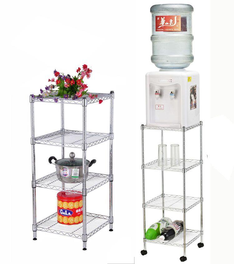 廚房用品置物架收納架層架不鏽鋼色金屬架子正方形置物架