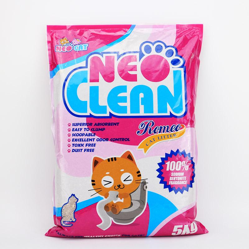 NEO膨潤土貓砂5kg 羅密歐強力有香凝結團貓砂 除臭無塵貓沙 包郵