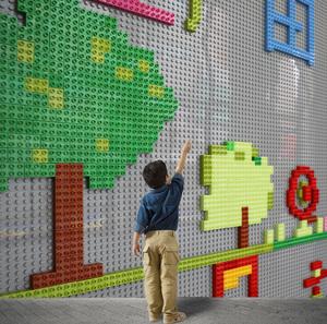 墙面玩具幼儿园积木墙商场儿童玩具区域涂鸦墙建构早教墙壁游戏墙