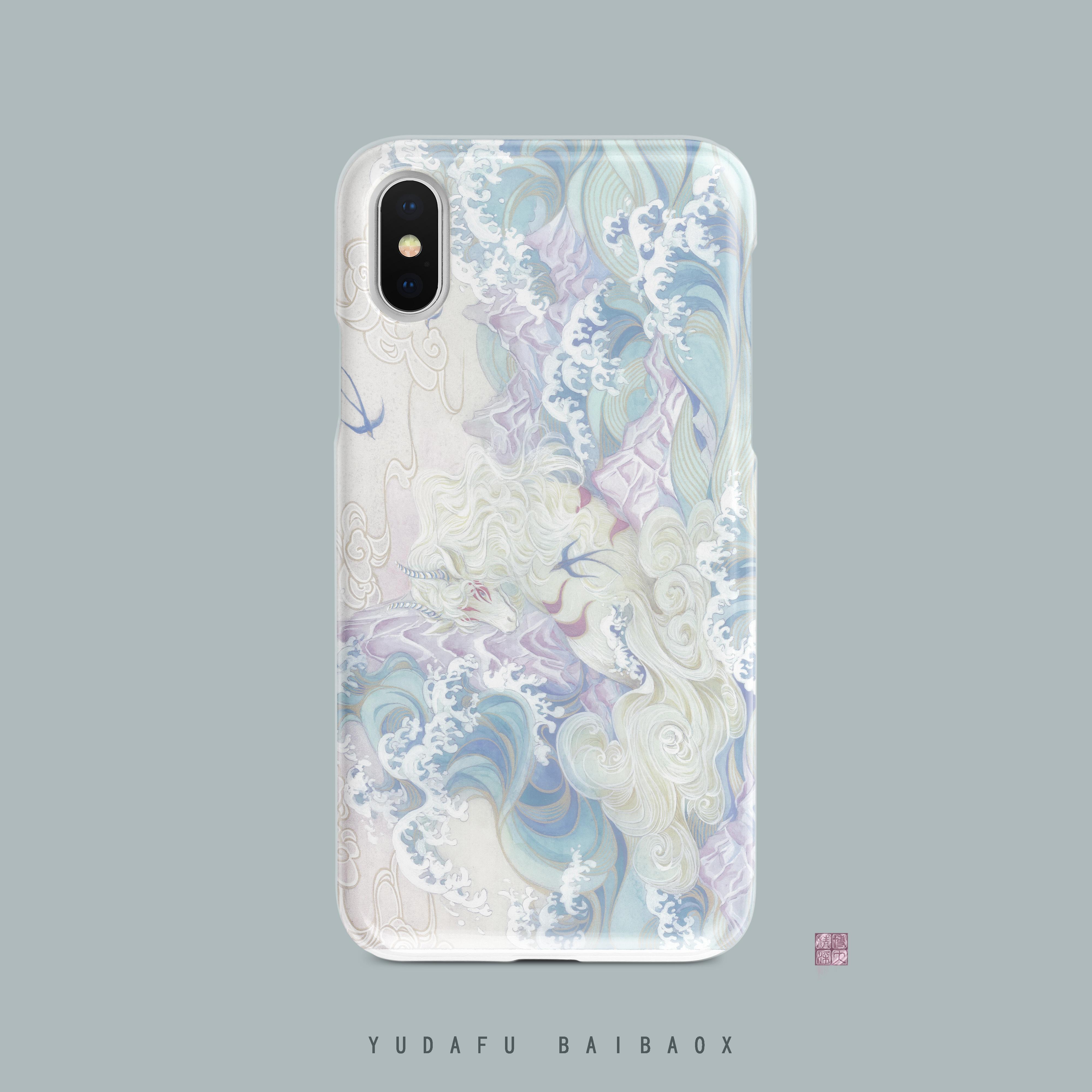 【白泽】原创设计Lolita柄图手机壳iPhoneX/XS 7P8P IMD全包软壳