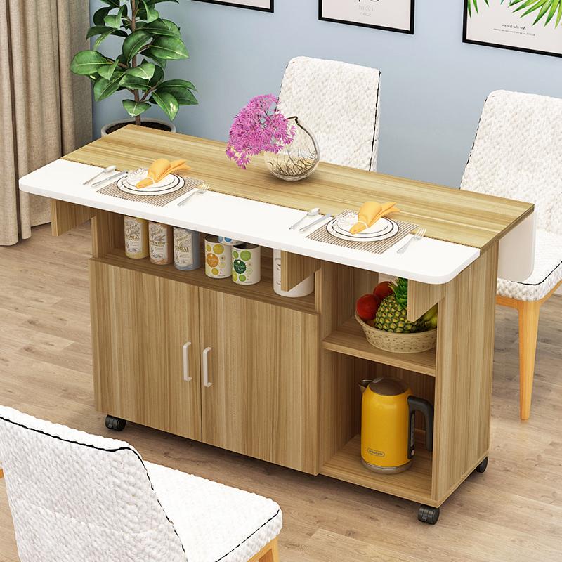 桌子折叠餐桌家用多功能经济小户型4人吃饭伸缩简易厨房饭桌,可领取10元天猫优惠券