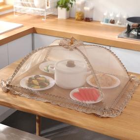家用折叠饭菜罩防尘透气剩菜盖菜罩