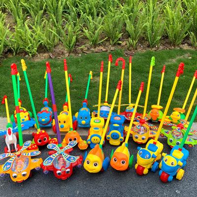 兒童學步手推飛機玩具推車輪獨輪推推樂單桿學走路帶響鈴吐舌頭