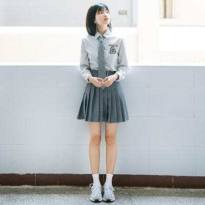 学院风校服套装韩版中学生班服英伦大学表演夏初高中JK制服裙秋冬