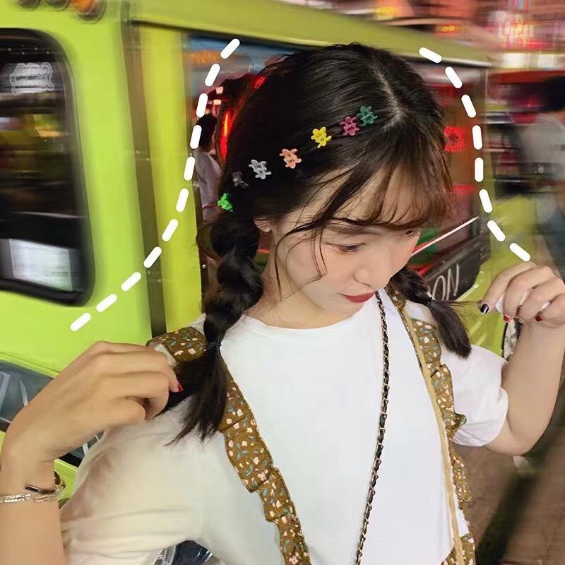 12月01日最新优惠ins泫雅同款发夹超可爱花朵抓夹 套装甜美少女心发夹边夹韩国发饰