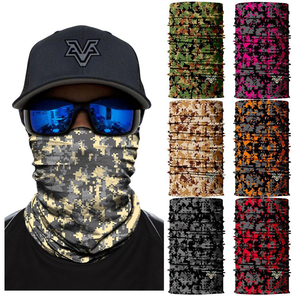 迷彩头套男女面罩旅游跑步骑行防晒吸汗头巾街头潮人嘻哈运动面巾(用5元券)