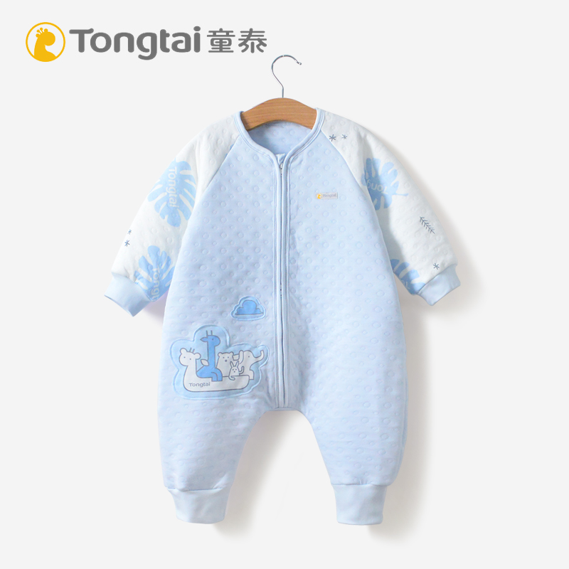 Tong Tai baby sleeping bag four seasons universal baby split sleeping bag pure cotton anti kicking newborn sleeping products spring and summer