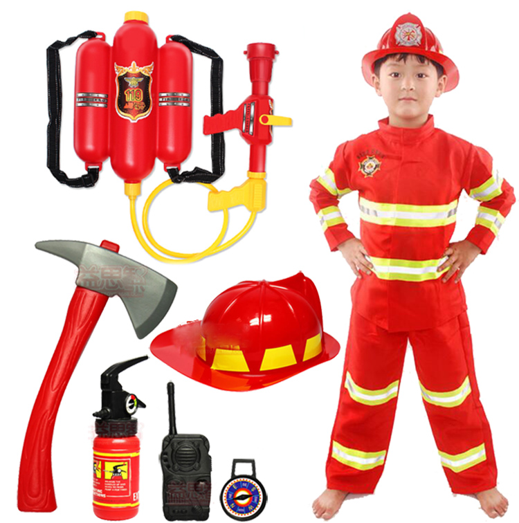 Childrens performance clothes fireman role play cos props kindergarten dream professional experience performance clothes gift