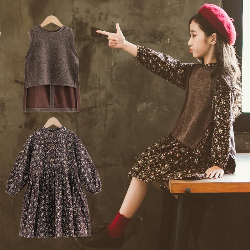 大童装女童秋装连衣裙洋气公主裙满149.00元可用69.1元优惠券