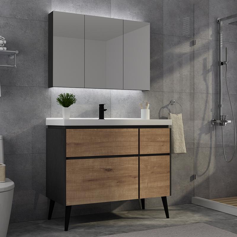 北欧组合卫生间柜组合带led浴室柜11-04新券