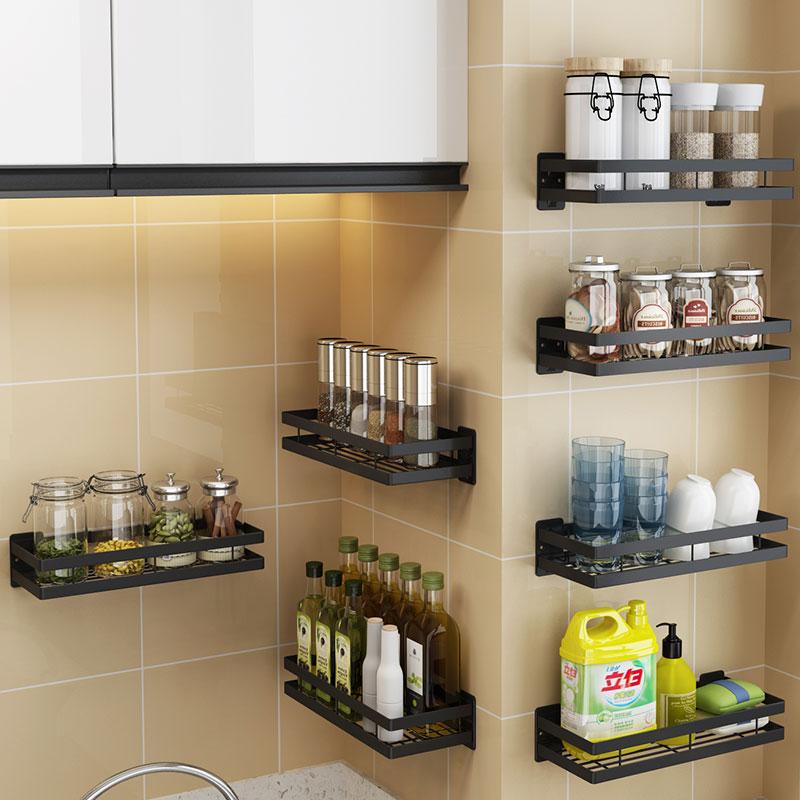 10-31新券厨房壁挂式免打孔调味料转角置物架