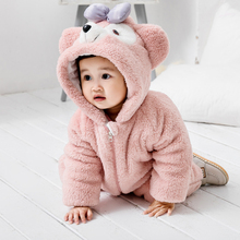 Baby autumn and winter one piece clothes baby winter clothes one year old go out clothes hugging clothes thickened winter 0 pajamas 1 New Year's clothes