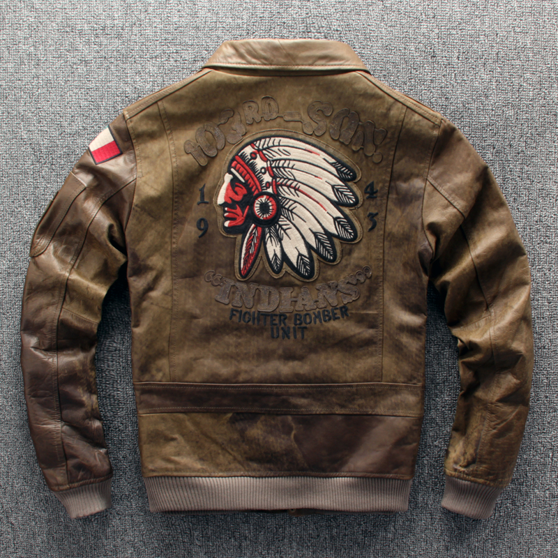 Special price clearance leather leather coat mens imported wax like old leather Indian Lapel motorcycle leather jacket fashion