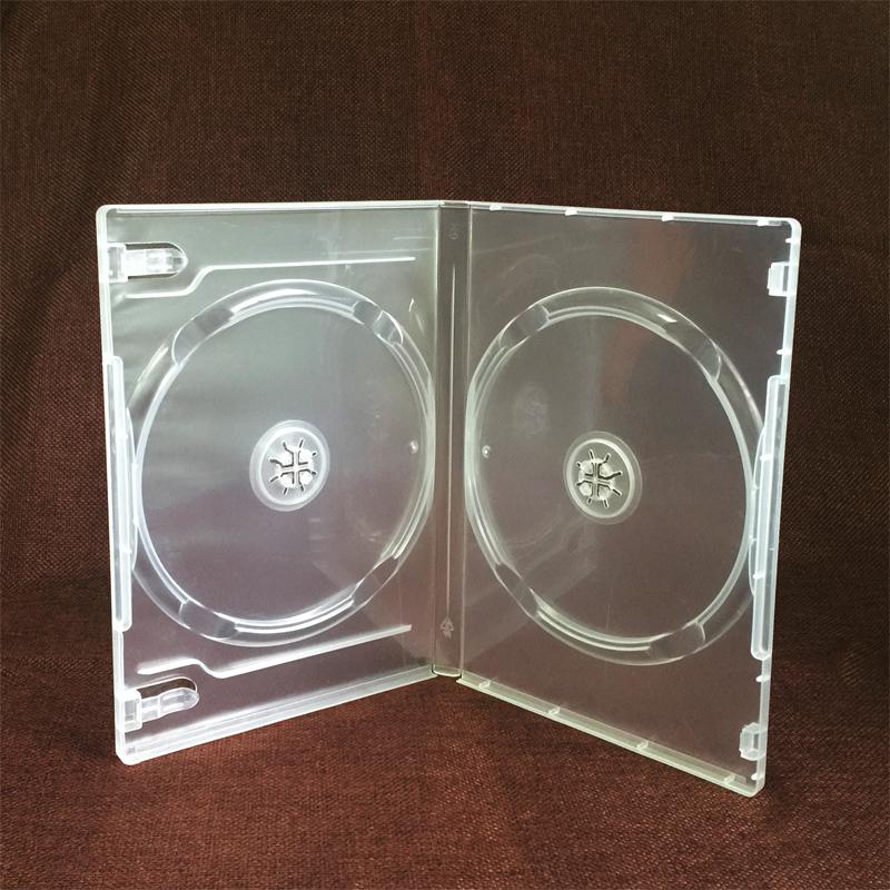 透明单片双片CD盒DVD刻录光盘碟片软盒 保存收纳包装塑料盒子促销