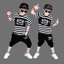 韩版男童夏装套装2019新款四男孩中童十运动时尚帅气衣服十一岁潮