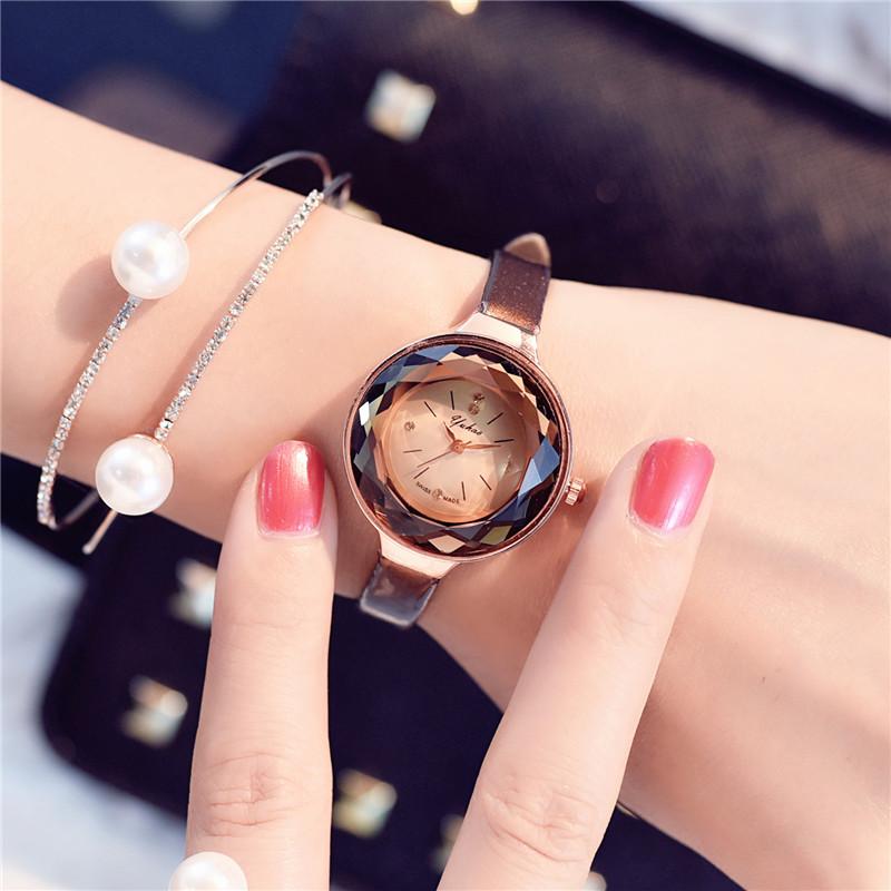 韩国复古时尚潮流小表盘手表女学生韩版圆形细带皮带简约小巧女款