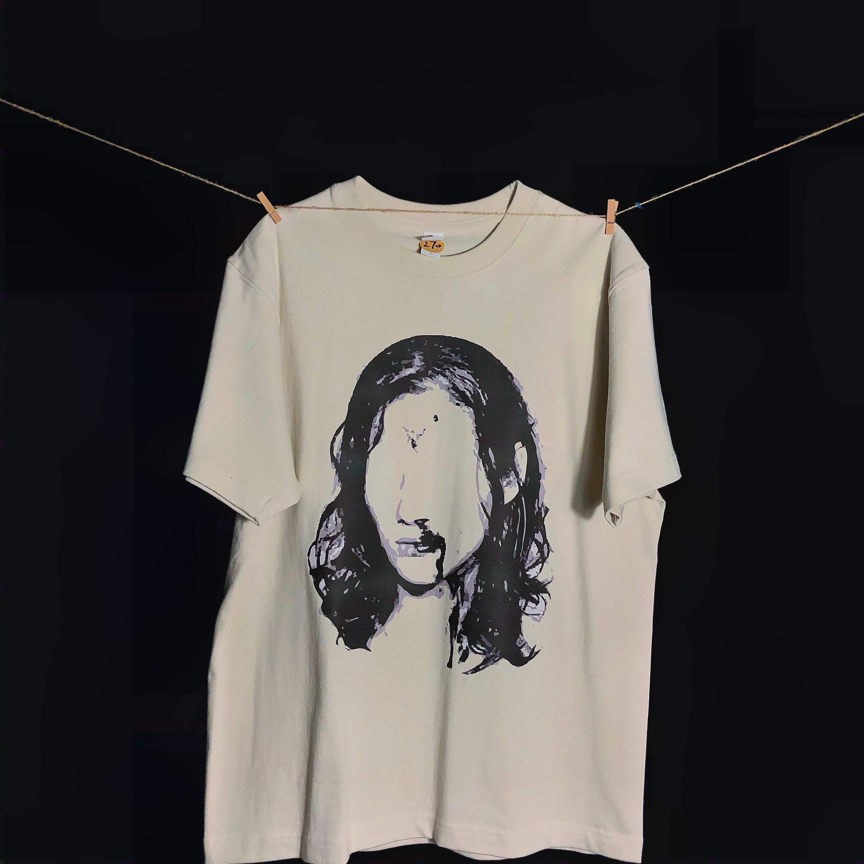 Vintage短袖Vibe重磅棉小众奶黄色流鼻血T恤宽松Archive做旧美式