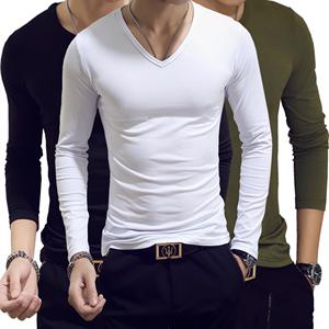 春秋季男士内衣莫代尔秋衣单件上衣男长袖紧身打底纯棉毛衫超薄款