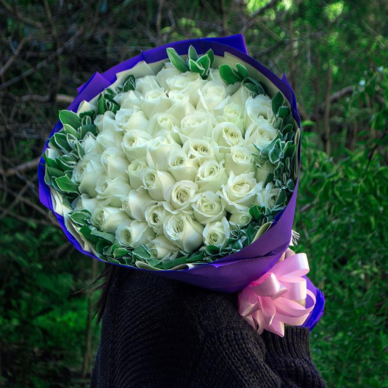 绍兴99朵红玫瑰香槟花束礼盒生日鲜花速递同城嘉兴诸暨温州送花店