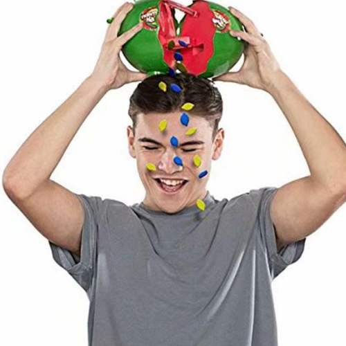 Watermelon Smash Game Family Kids Fun Toy Seeds Roulette Toy