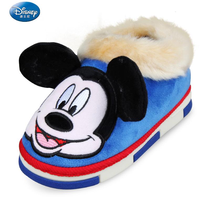 迪士尼兒童棉鞋 男童女童鞋防滑加厚加絨保暖小孩家居寶寶棉鞋