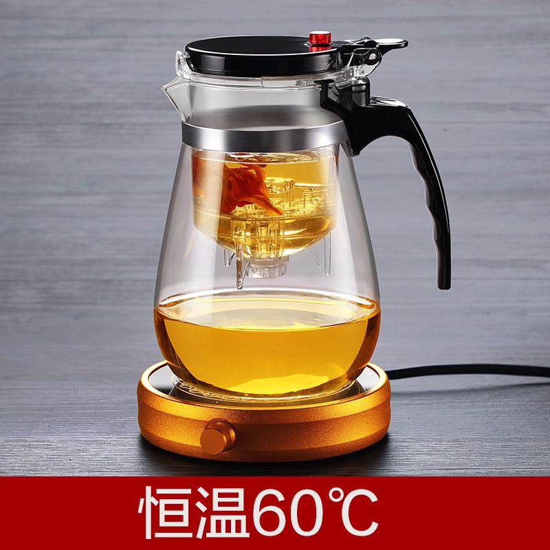 聚千義可拆洗飄逸杯泡茶壺沏茶杯全過濾耐熱玻璃衝茶器玲瓏杯茶具
