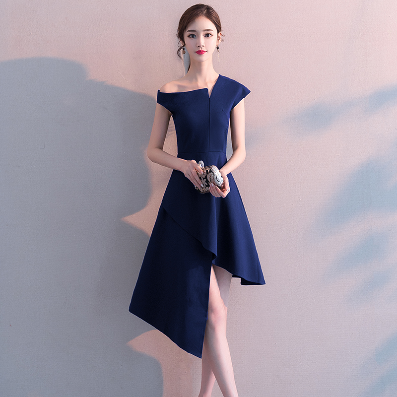 小礼服女2021新款中长款连衣裙学生宴会生日晚礼服仙气质平时可穿
