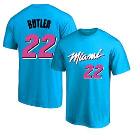 2020迈阿密热火22号巴特勒城市版球衣训练服纯棉圆领短袖T恤半袖