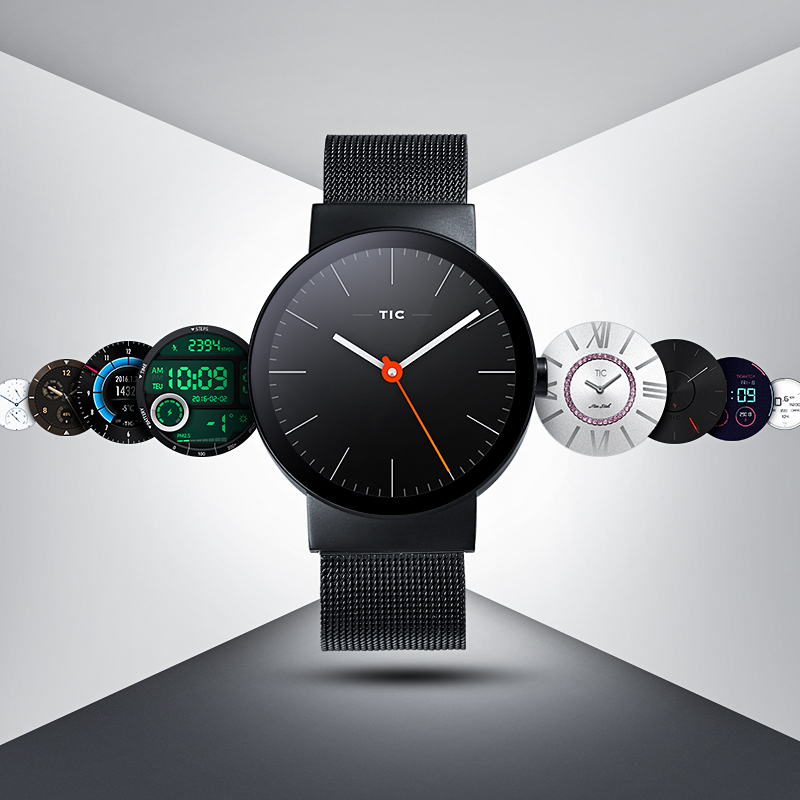 Cowatch smart watch mens and womens fashion stainless steel Talking Watch tic wear system watch package