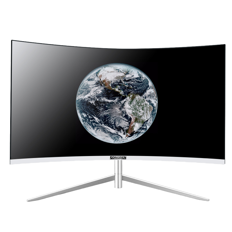 Songren brand new 27 inch 2K large screen 1800R curvature light curved screen 144HZ three side micro frame HDR game office computer 1080P ultra thin high definition screen display 165HZ