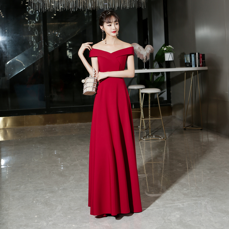 新娘2020新款秋冬季红色显瘦结婚裙