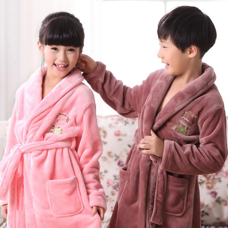 兒童珊瑚絨法蘭絨寶寶睡袍