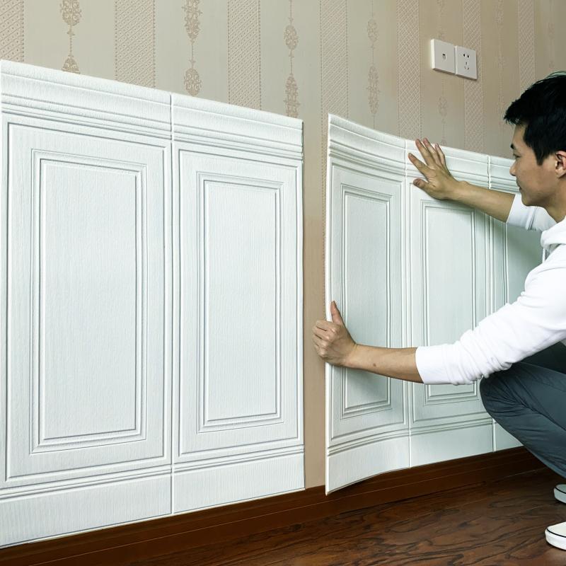 3d立体墙贴墙围自粘墙纸软包墙板价格多少好不好用