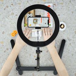 手机桌面俯拍支架拍摄直播架带补光灯抖音扫描录视频支撑架稳定器