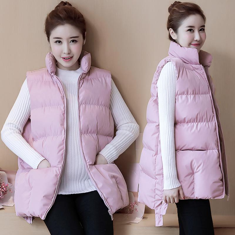 Беременная женщина хлопок 2017 новинка зимний осеннний хлопок одежда длина корейский сгущаться жилет ватник пальто в моделье зимой