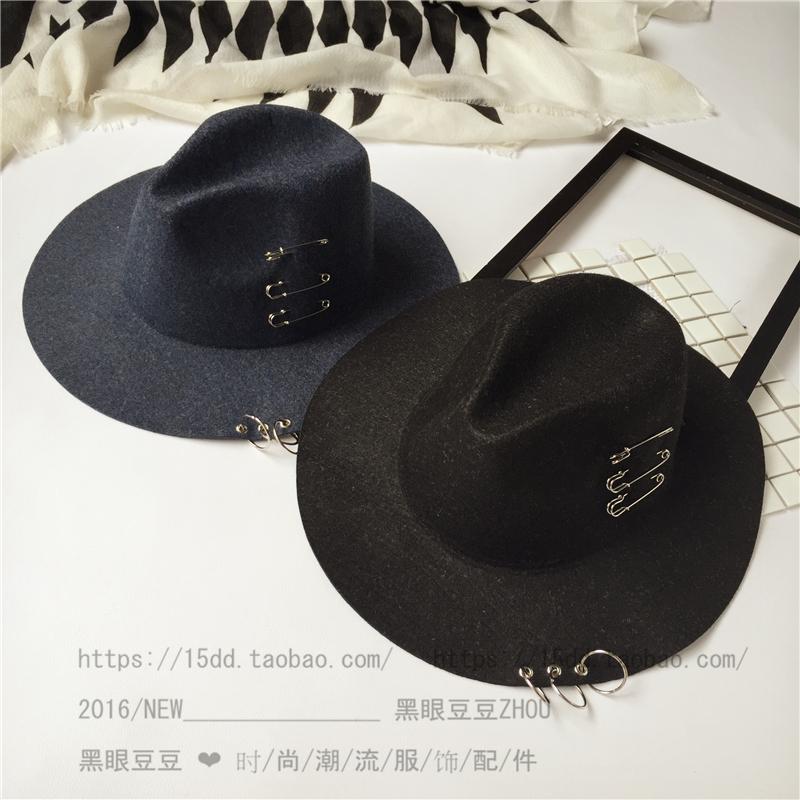 Chapeau pour homme cône en mélange de laine - Ref 1926046 Image 3