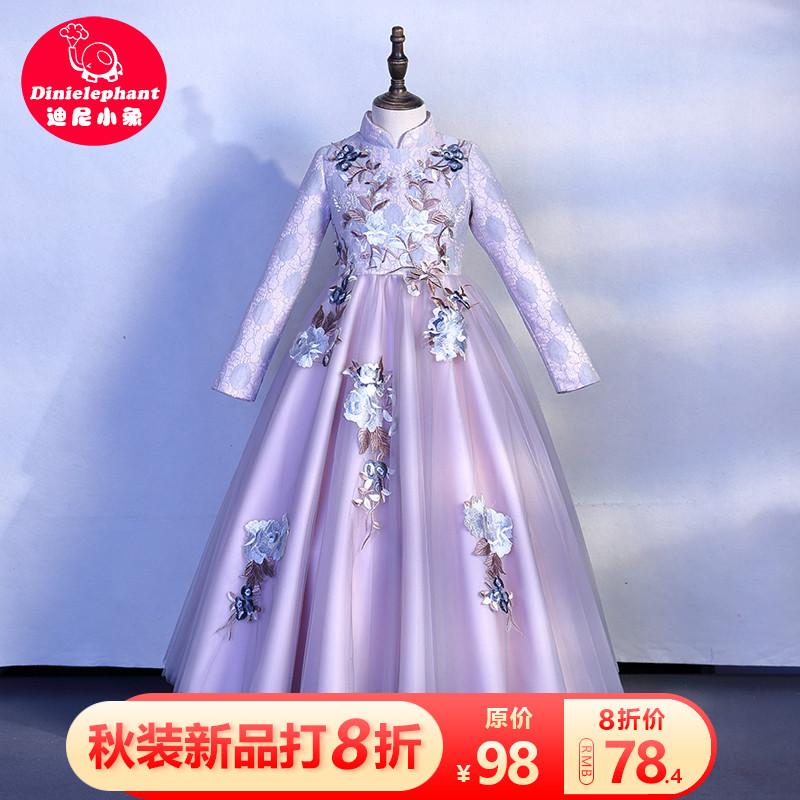 10月30日最新优惠女童汉服公主裙洋气儿童冬装加绒长袖旗袍礼服裙子女孩秋装连衣裙