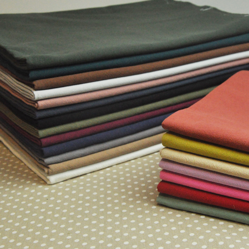 20 Color Japanese first dyed cloth clothing washing cotton hand DIY basic cloth wild kapok solid lining