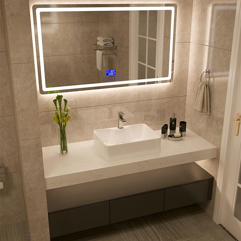 北欧浴室柜组合实木现代简约挂墙式智能洗脸洗手双盆卫生间洗漱台1888.00元包邮
