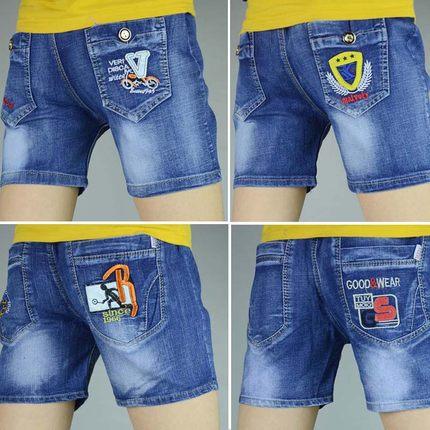 男童牛仔夏薄款童装弹力宽松潮短裤