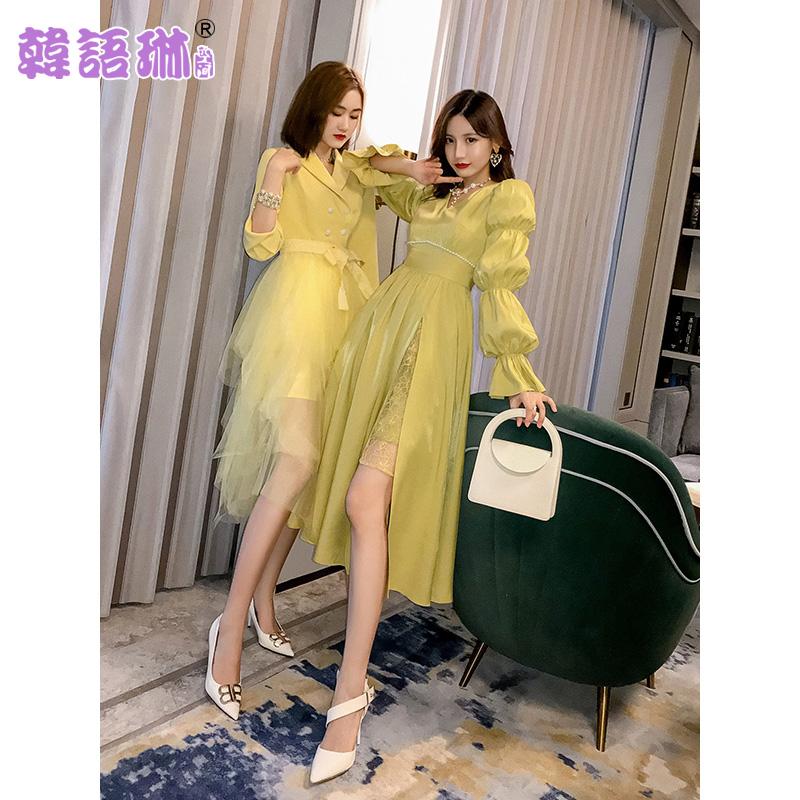 韩语琳秋季女装2019新款韩版连衣裙199.00元包邮