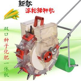 手推式新款轮滚玉米花生大豆黄豆角播种机多功能点播精播器种植机图片