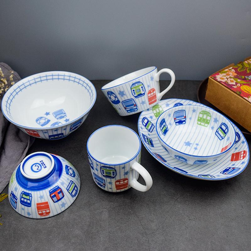 日本の子供の食器を輸入して、かわいい陶磁器の小さい碗の日本式のアイデアのご飯の碗の碗の碗の碗の碗の碗の碗の碗を食べます。