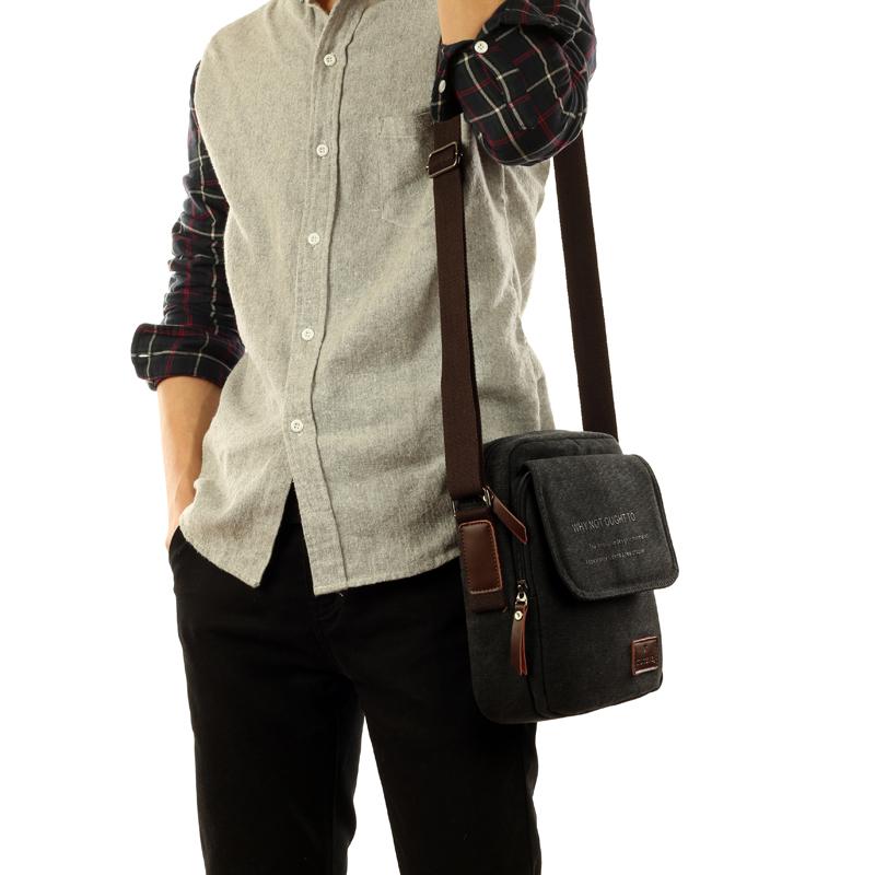 9f7eee33d73a Ink a canvas bag men Korean version of casual canvas shoulder bag man bag  small bag