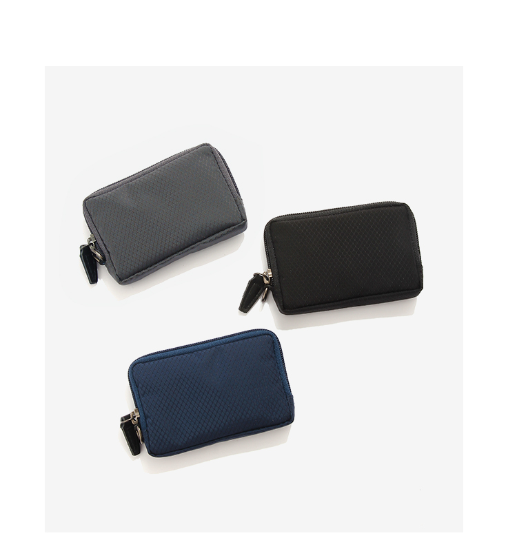 Fashion brand Mini change purse for men and women nylon small purse with change key, bank card and mountaineering clasp